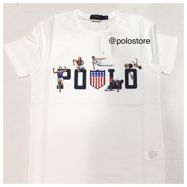Nwt Polo Ralph Lauren White Kswiss Spellout Tee