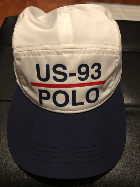 Nwt Polo Ralph Lauren Navy Blue 1993 Athl . Dept  Buckle Strap Back