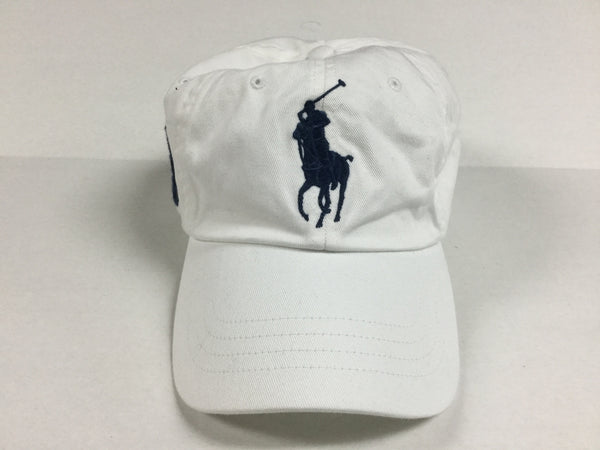 NWT POLO RALPH LAUREN WHITE BIG PONY STRAP BACK