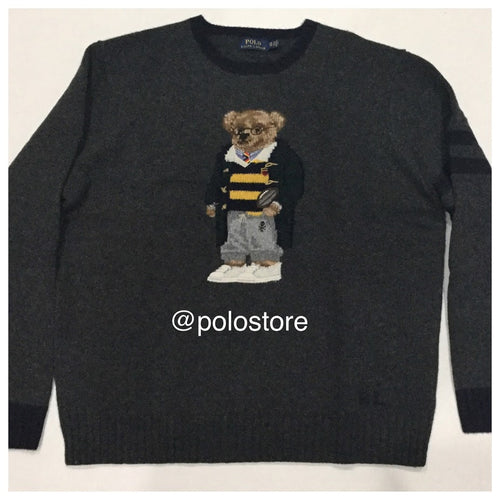NWT POLO RALPH LAUREN GREY HARRY POTTER/GRANDPA WOOL SWEATER