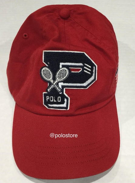 Nwt Polo Ralph Lauren Red Us Open Adjustable Strap Back Hat