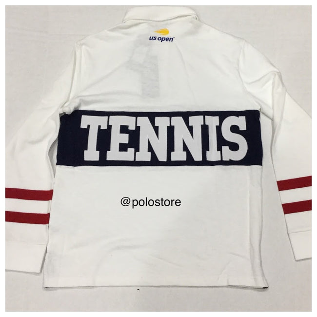 NWT POLO RALPH WHITE POLO TENNIS US OPEN 2018 RUGBY