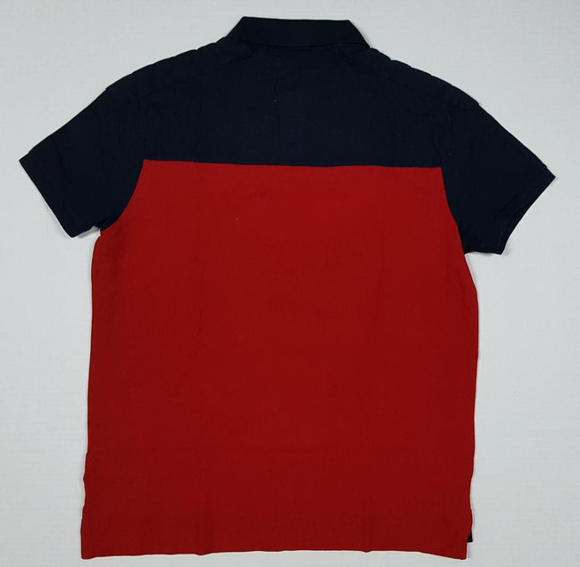 NWT POLO RALPH LAUREN RED/NAVY SCRIPT CUSTOM FIT POLO