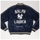 Pre-Owned Polo Ralph Lauren Yankees Navy Blue #RL 50 Satin Jacket
