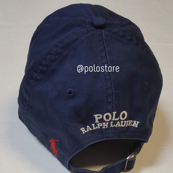 Nwt Polo Ralph Lauren Navy Kswiss Adjustable Strap Back