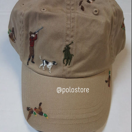 Nwt Polo Ralph Lauren White Allover Print Chariot Hat