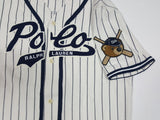 NWT POLO RALPH LAUREN PINSTRIPE NAVY BLUE POLO BEARS BASEBALL JERSEY