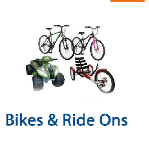 Bikes &  Ride ons Arriving from WALMART on Nov 6