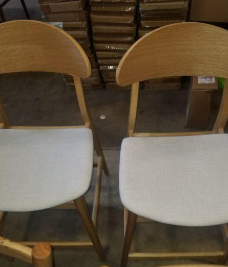 Retro Dining Chair Natural/White