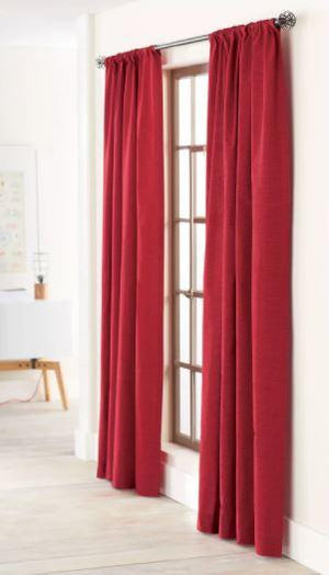 Farrah Window Panel Red - Threshold, Ruby Ring
