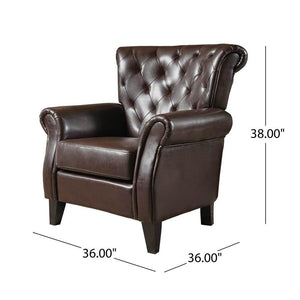 Greggory Bonded Leather Club Chair by Christopher Knight Home