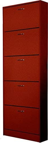 Vogue Shoe Cabinet, Brown - H 1690 mm x W  590 mm x D 170 mm