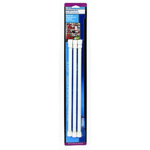 "Camco 28"" RV Refrigerator Bar, Holds Food and Drinks in Place During Travel, Prevents Messy Spills, Spring Loaded and Extends Between 16"" and 28"" - White (3 Pack) (44053)"