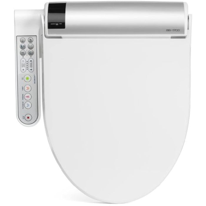 BioBidet BLISS BB-1700 Elongated White Bidet Toilet Seat with Warm Water, Hybrid Heating Hydroflush Technology, Side Panel, Posterior and Feminine Wash Self Cleaning Electric Bidet Easy DIY Installation