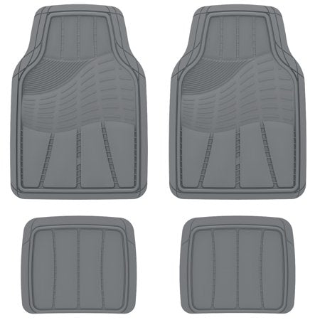 Auto Drive Heavy Duty Universal 4-Piece All Weather Rubber Car Floor Mats