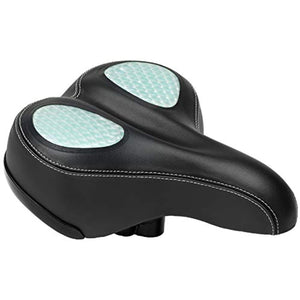 Schwinn Comfort Bike Saddle, Wide Saddle, Gel, Black