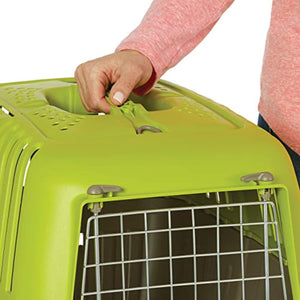 MidWest Homes for Pets Spree Travel Pet Carrier, Dog Carrier Features Easy Assembly and Not The Tedious Nut & Bolt Assembly of Competitors, Green, 24-Inch Small Dog Breeds (1424SPG)