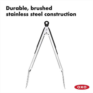 OXO Good Grips 12-Inch Stainless-Steel Locking Tongs, Multicolor
