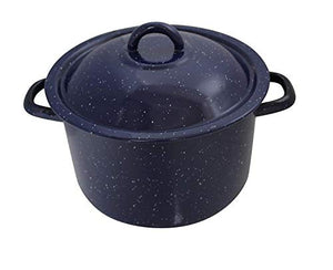 IMUSA 4qt Enamel Stock Pot Blue