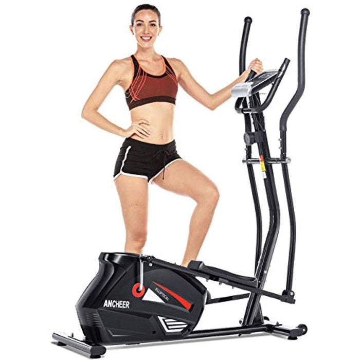 ANCHEER Eliptical Exercise Machine,Elliptical Cross Trainer for Home Use,Heavy-Duty Gym Equipment for Indoor Workout & Fitness with 10-Level Resistance&Max User Weight:390lbs.