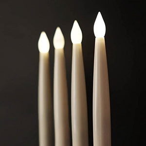 Flameless Taper Flickering Candles With Remote
