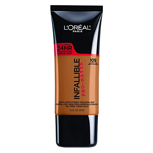 L'Oreal Paris Infallible Pro-Matte Foundation Normal/Oily Skin - 109 Classic Tan - 1 fl oz