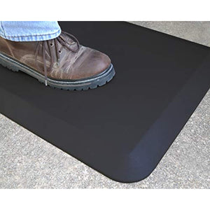 NewLife by GelPro Professional Grade Anti-Fatigue Kitchen & Office Comfort Bio-Foam Mat with non-slip bottom for health & wellness, 24x36, Midnight