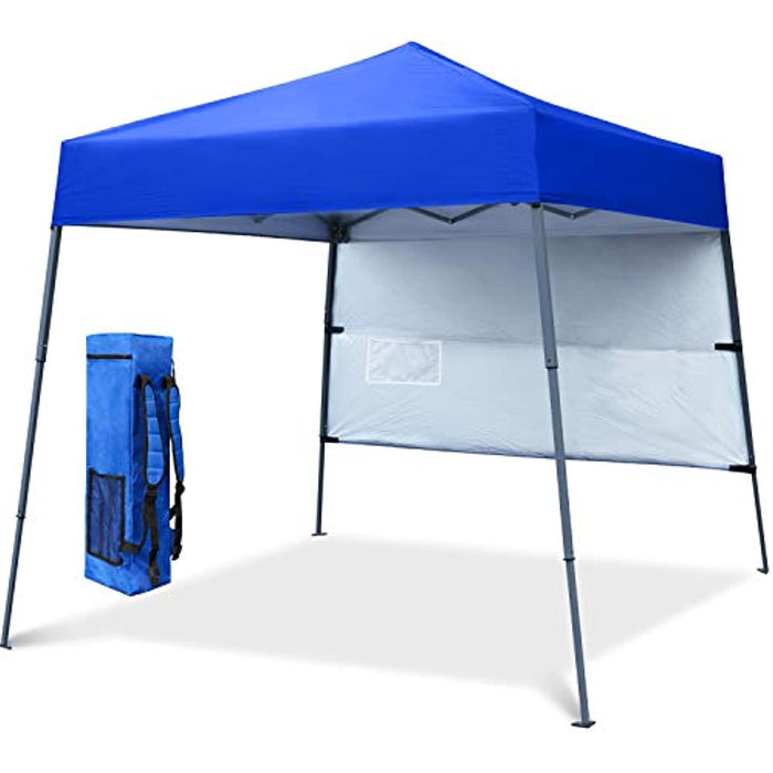 COOSHADE 6x6Ft Compact Lightweight Backpack Canopy Sun Protection Pop-Up Shelter Slant Leg Beach Tent(RoyalBlue)