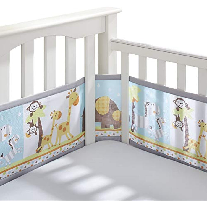 BreathableBaby Classic Breathable Mesh Crib Liner - Best Friends