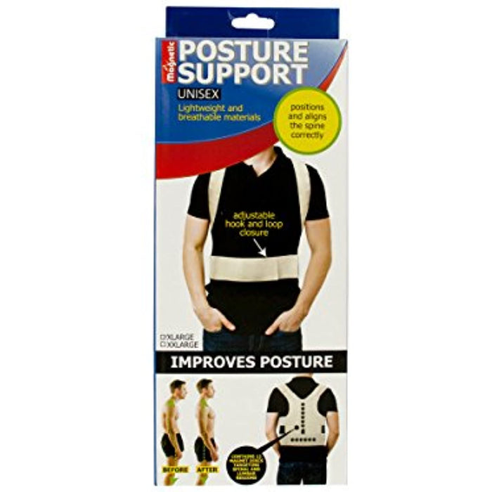 Magnetic Unisex Posture Support Brace in White