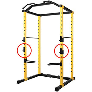 Everyday Essentials 1000-Pound Capacity Multi-Function Adjustable Power Cage J-Hooks