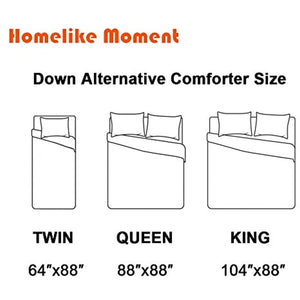 Reversible Lightweight Comforter - All Season Down Alternative Comforter Queen Summer Duvet Insert White Quilted Bed Comforters with Corner Tabs Full / Queen Size White