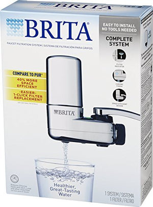 Brita Tap Water Faucet Filtration System - Chrome