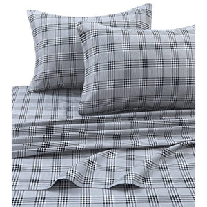Tribeca Living SAVA200SHEETKI Flannel Deep Pocket Sheet Set, King, Savannah Plaid Multi