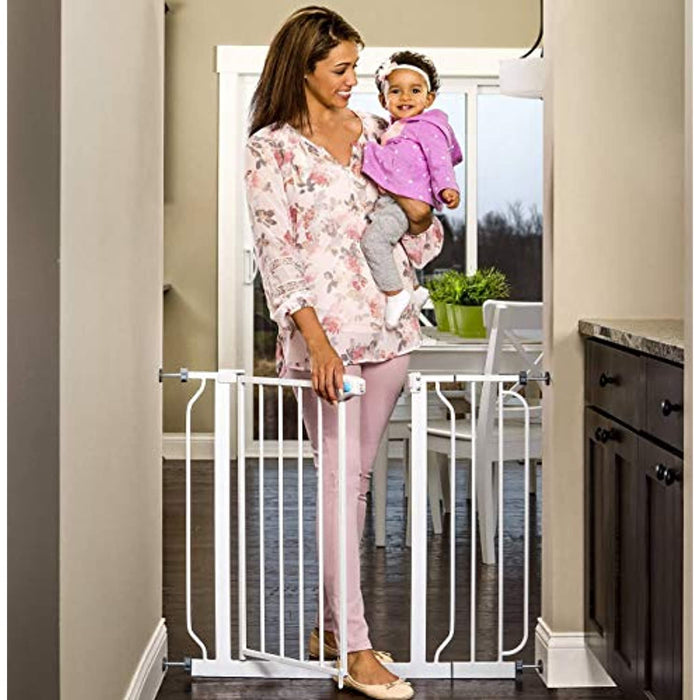 Regalo Extra Wide Walk Through Baby Gate, with Included Extension Kits