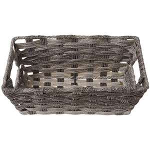 Whitmor Split Rattique Small Shelf Tote-Gray Wash