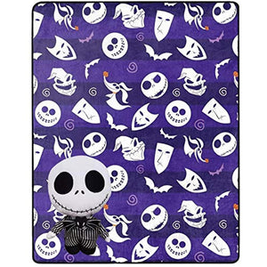 Nightmare Before Christmas The Northwest Company Jack Skellington Character Pillow and Throw Set