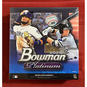 Factory-Sealed 2020 Bowman Platinum Mega Box Baseball - 23 MLB Cards