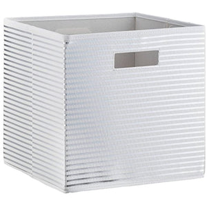 Stripe KD Toy Storage Bin Silver - Pillowfort