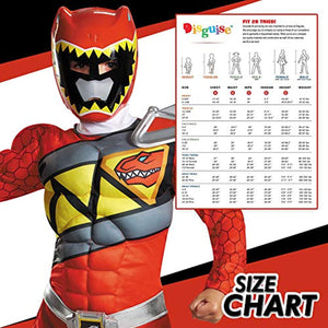 Power Rangers Muscle Costume For Boys Red Dino Charge Classic Kids Beast Morphers Ninja Dinosaur Red Ranger For Kids Small 4-6