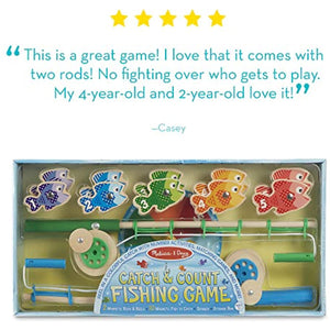 Melissa & Doug Catch & Count Magnetic Fishing Game