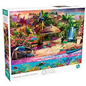 Buffalo Games - Tropical Island Holiday - 1500 Piece Jigsaw Puzzle