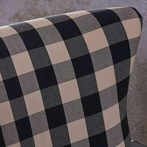 Arabella Checkerboard Fabric Club Chair by Christopher Knight Home