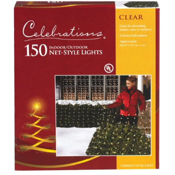 Clear Net Lights, 4' x 6', 150 Clear Net lights