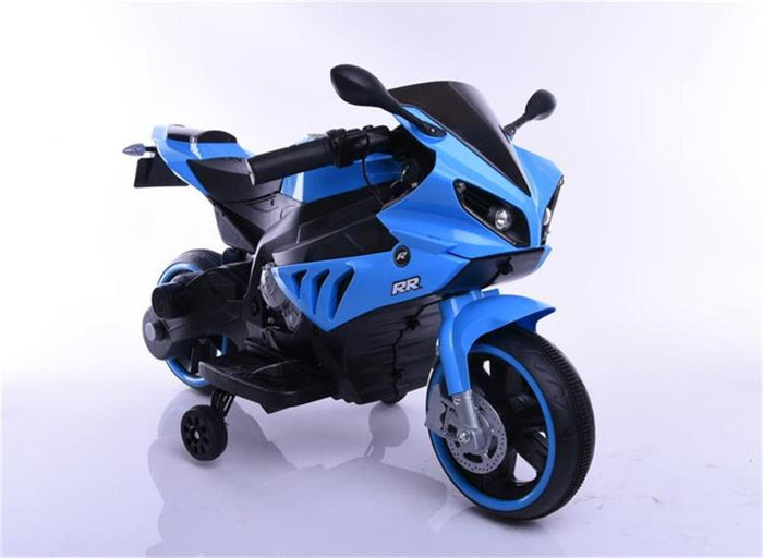 Electric Blue Kids Motorbike
