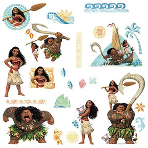 RoomMates Disney Princess - Vaiana Peel & Stick Wall Decals, Multicolor
