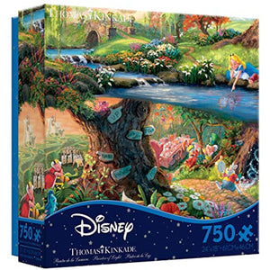 Ceaco Thomas Kinkade The Disney Collection Alice in Wonderland Jigsaw Puzzle, 750 Pieces