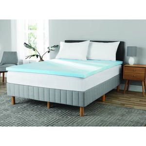 Mainstays 2 Inch Gel Infused Memory Foam Mattress Topper, Queen