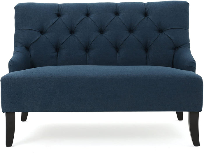 Christopher Knight Home Nicole Fabric Settee, Blue