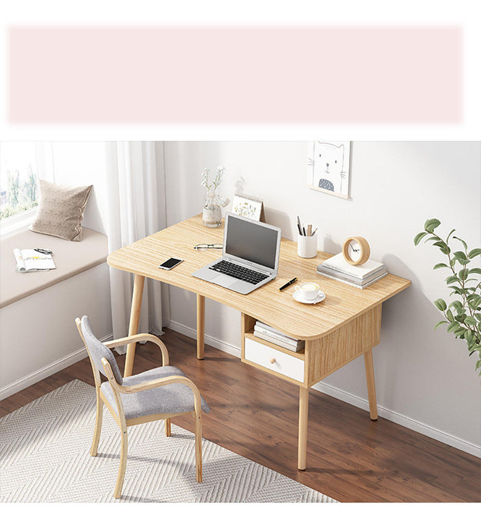 Multifunction Solid Modern Wooden Designer Office Desk - Lemonade gift Ideas (120 cm )